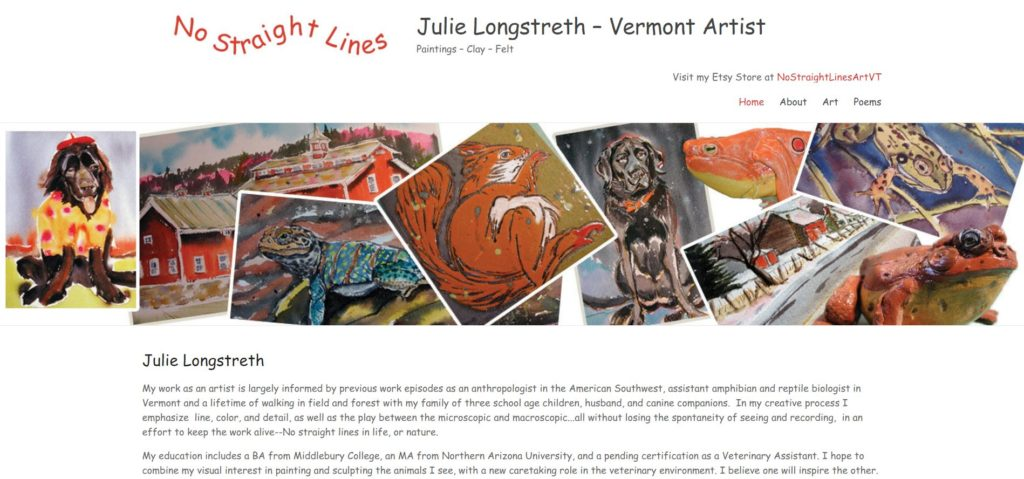 Julie Longstreth - Vermont Artist - No Straight Lines